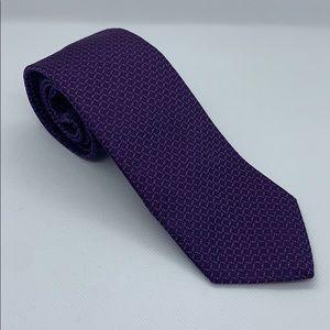 Men's banana republic purple patterned silk tie
